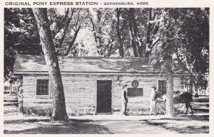 GOTHENBURG, Nebraska, PU-1965; Original Pony Express Station