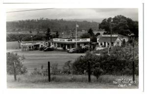 RPPC Camp Evers, Santa Cruz Mountains, CA Chevron Gas Station Postcard *5D