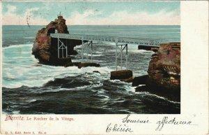 CPA Biarritz Rocher de la Vierge FRANCE (1126191)