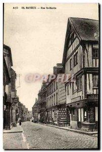 Old Postcard Bayeux Rue Saint Martin