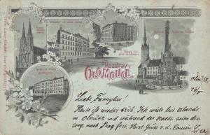 Czech Republic 1898 Pozdrav z Olomouce Olomouc Olmutz