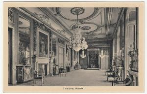 Berkshire; Windsor Castle, Throne Room PPC By Tuck, Unposted, c 1930's