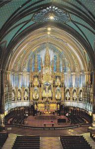 Notre Dame Church, Main Altar, MONTREAL, Quebec, Canada, 40-60's
