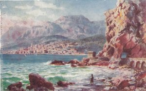 MENTON, France, 1900-10s; General view , Les Roches Rouges; TUCK #120