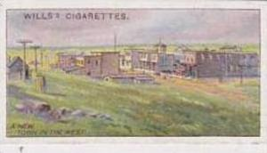 Wills Vintage Cigarette Card 1914 Overseas Dominions Canada No 25 New Town In...