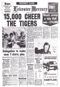 Leicester Tigers vs Northampton Rugby Rare Newspaper Ephemera
