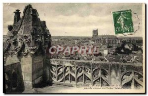 Old Postcard Auxerre Vue Generale On The Cathedral