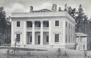 Tennant Memorial Home, Pacific Grove, California, early postcard, Unused