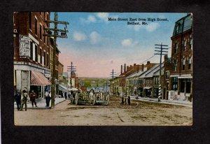 ME Main Street St East From High Belfast Maine Vintage Postcard Horses