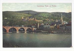 Germany Heidelberg Partie am Neckar Karl Theodor Old Bridge Vintage Postcard