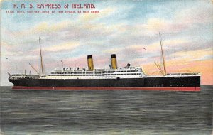 RMS Empress of Ireland Canadian Pacific Steamship Co Ship Unused