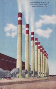 Smokestacks At T V As Shaween Steam Plant Paducah Kentucky