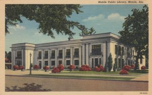 MOBILE, Alabama, 1930-1940's; Public Library