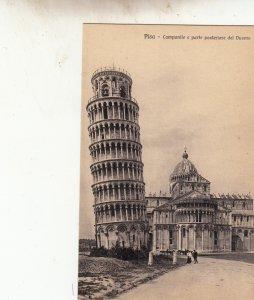 P1858 old italy postcard pisa-campanile e parte posteriore del duomo
