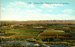 Washington Yakima Valley From Lookout Point 1938 Curteich