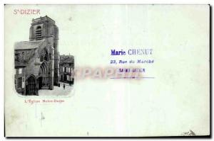Postcard Old St Dizier Notre Dame Church