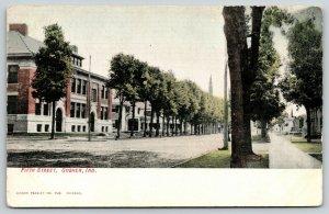 Goshen Indiana~Fifth Street High School~Homes~Church Spires~c1910 Postcard