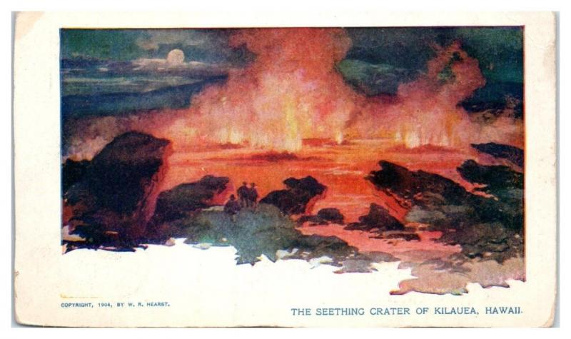 1904 Seething Crater of Kilauea Hawaii Postcard