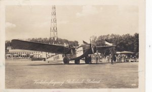 RP; BERLIN , Germany , 1930s : Lufthansa Tri-Motor airplane