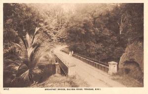 Trinidad British West Indies Salybia River Breakfast Bridge Postcard J74300