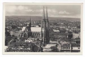 RPPC Austria Vienna Votivkirche Votive Church 1937 Aerial