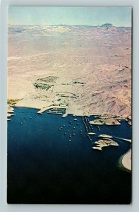 Kingman AZ- Arizona, Lake Mojave Resort, Aerial View, Chrome Postcard