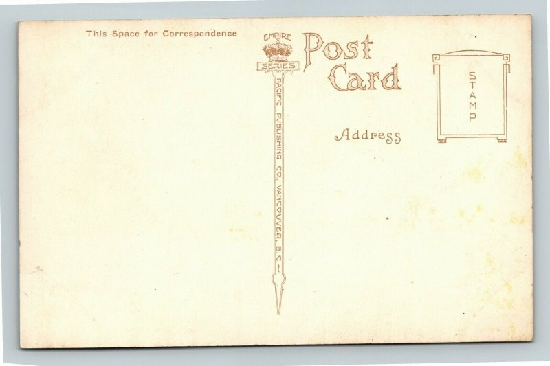 Canadian Rockies-Canada, Emerald Lake, Mountains, Vintage Postcard