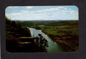 PA Wyallusing Rocks Susquehanna River Penn Pennsylvania Postcard Indian Lookout