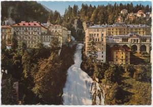 Weltkurort Badgastein 1083 m, Unterer Wasserfall, Austria, 1975 used Postcard
