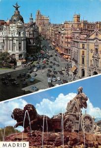 Spain Madrid Aspectos Urbanos, Urban Aspects Fountain Statue, Street Cars Auto