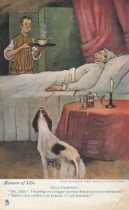 COLD COMFORT, Old man in bed, 1900-10s; TUCK HUMOUR OF LIFE 6440