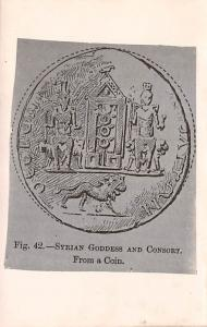 Syrian Goodness and Consort from a coin, Syria Postcard, Syrie Turquie, Posta...