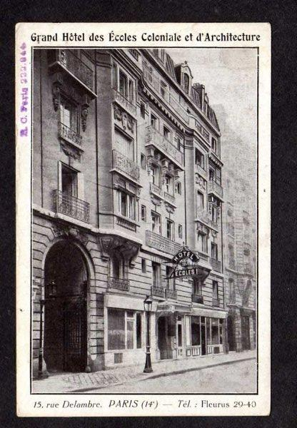 France PARIS Grand Hotel Ecoles Coloniale d'Architecture Carte Postale Postcard
