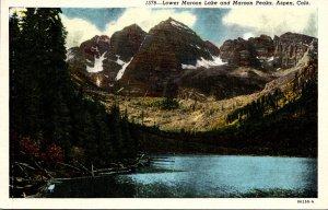 Colorado Aspen Lower Maroon Lake and Maroon Peaks