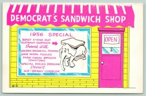 Comic Politics~Democrat Diner~Elephant Sandwich~Sour Nixon Pickles~1956 Special