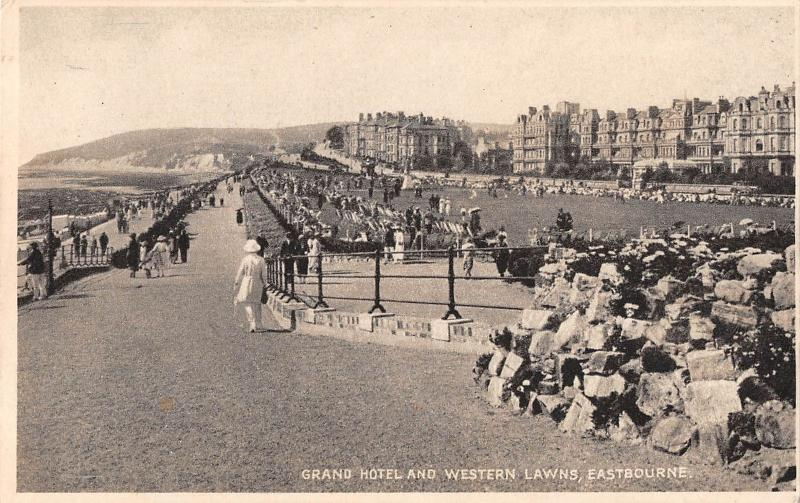 uk30852 grand hotel and western lawns eastbourne real photo uk