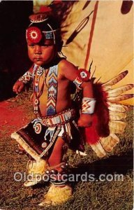 Little Nonnie Pawnee Otoe Indian Dancer Postcard Post Cards unused