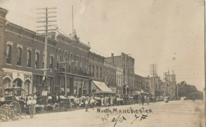 RP: NORTH MANCHESTER , Indiana , 1908 ; Main Street
