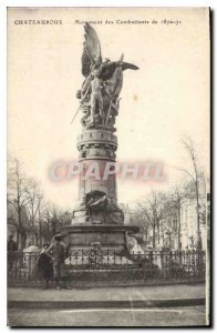 Old Postcard Chateauroux Monument Fighters 1870 71