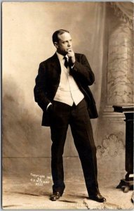 Vintage 1910s BILLY SUNDAY RPPC Postcard Another One Fainted CU WILLIAMS Photo