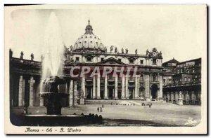 Old Postcard Roma S Pietro