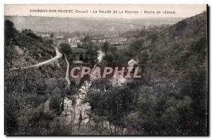 Old Postcard Chambon sur voueize (Creuse) the valley of the voueize Lépaud road