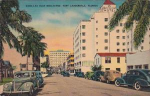 Florida Fort Lauderdale Old Cars On Las Olas Boulevard