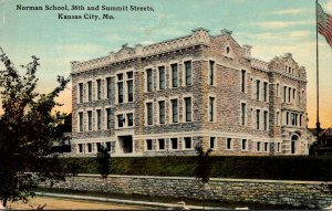 Missouri Kansas City Norman School 36th and Summit Streets 1912