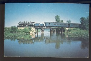 Essex, Connecticut/CT Postcard, The Boat Train, Valley Railroad/RR