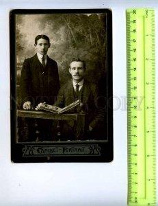 410065 gentlemen Amateur photographer Serebrennikova Perm 1914 CABINET PHOTO