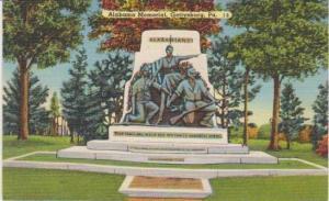 Alabama Memorial, Gettysburg, Pennslyvania 1930-40s
