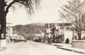 RP: CALISTOGA , California , 1930-40s ; Main Street ; ZAN