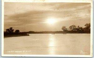 Harlingen Texas RPPC Postcard The RIO GRANDE at Night RUNYON Photo 1919 Cancel
