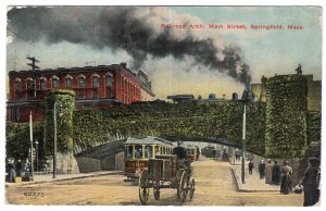 Springfield, Mass, Railroad Arch, Main Street